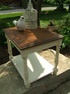 step by step instructions to antique chalk painted table