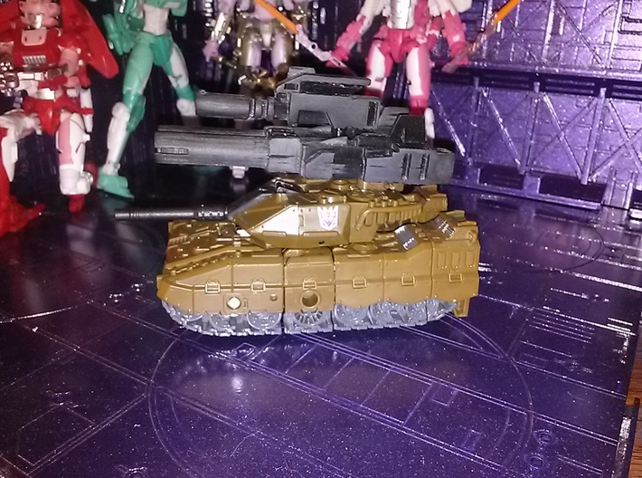 instructions for transformer decepticon tank thats purple and white