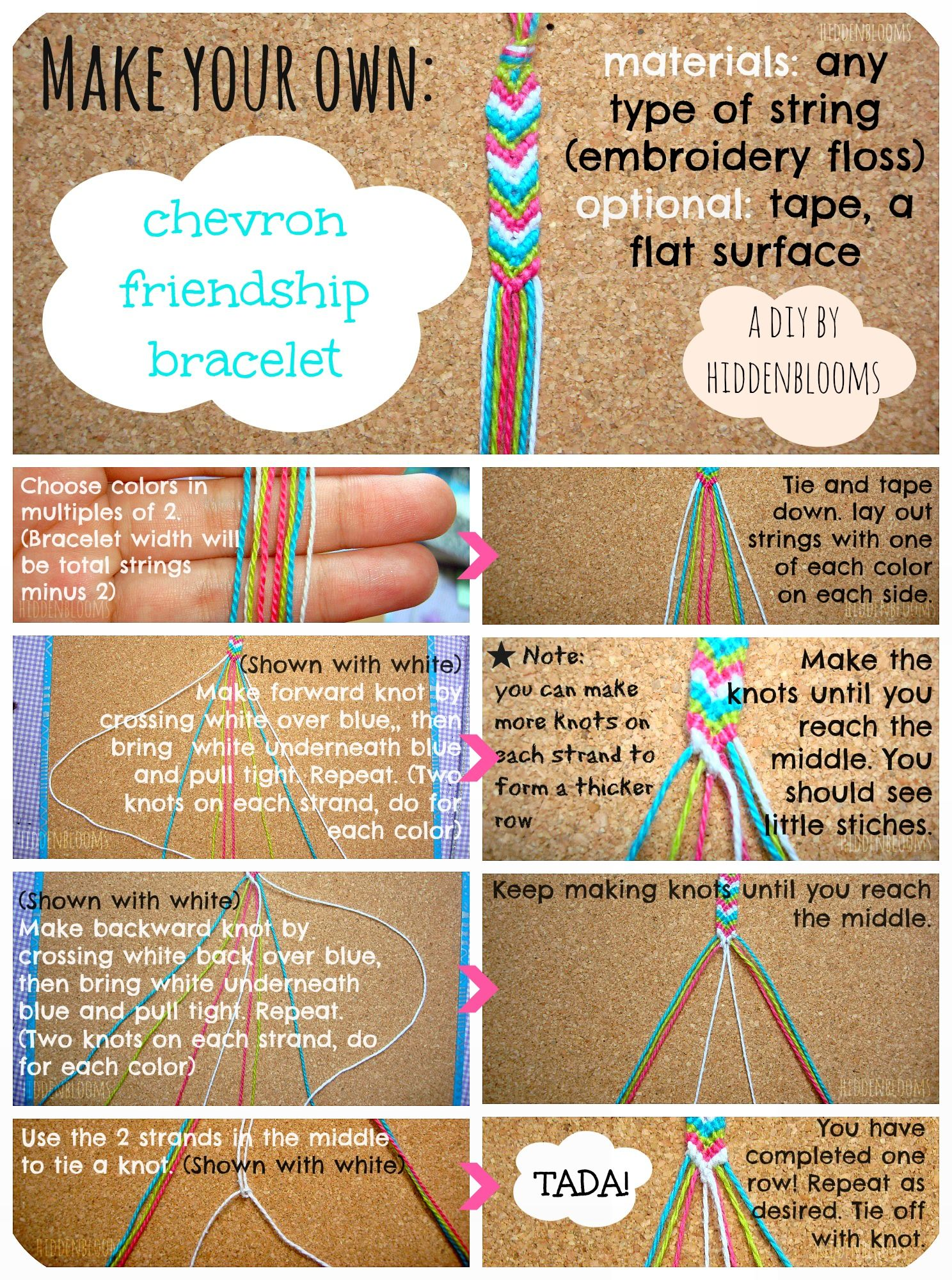friendship bracelet making instructions with pictures