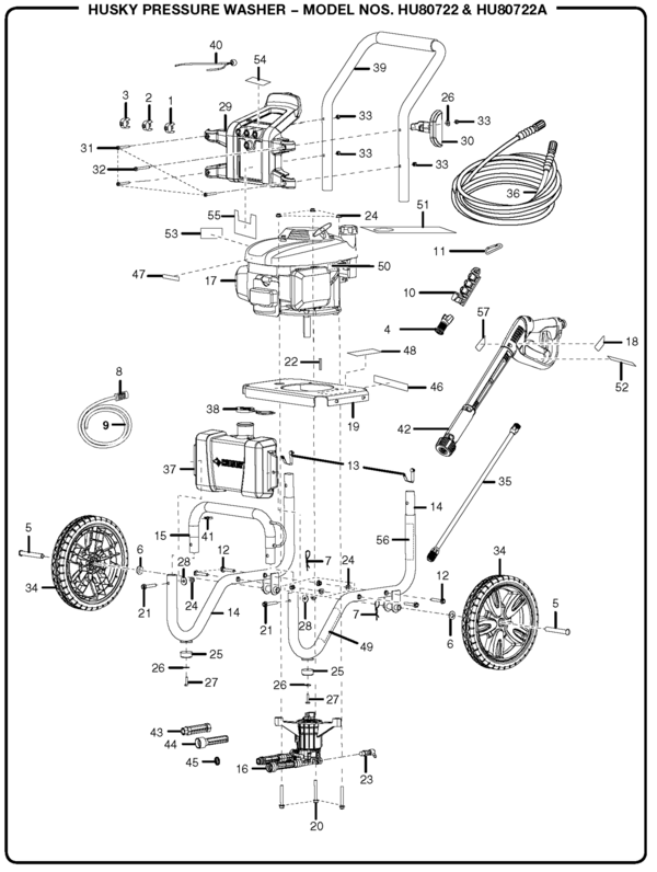 husky electric power washer instructions